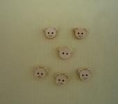 Шитье, вязание - Детские деревянные пуговицы (мишки, котята)