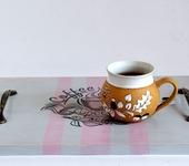 """Предметы для кухни - Поднос сервировочный """"Время пить кофе""""."""