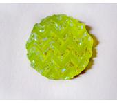 Скрапбукинг - 6шт Узор геометрический круглый кабошон стразы 18мм пластик акрил