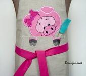 Одежда для девочек - Фартук детский Свинка