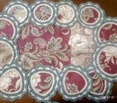 Скатерти, салфетки - Столовый набор Пионы