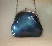 Сумки, рюкзаки - Маленькая лаковая  сумочка цвета морской волны (кожа)