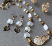 Комплекты украшений - Комплект «Нежность ноября»