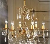 Светильники, люстры - Подвесная бронзовая люстра ручной работы AVRORA art. 06-01