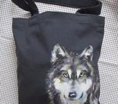 Сумки, рюкзаки - Женская сумка с ручной росписью ... ВОЛК ...