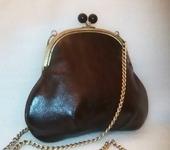 Сумки, рюкзаки - Сумка коричневая кожаная Ретро