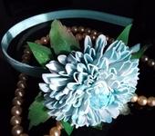 Украшения для волос - Ободок с цветком из фоамирана