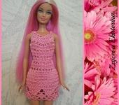 Одежда для кукол - Платье Нежность(розовое)