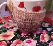 Кружки, чашки - Чашка в свитерочке Теплые маки