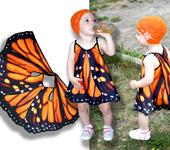 Платья - Сарафан, имитирующий крылья бабочки Монарх