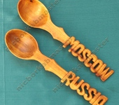 Оригинальные подарки - Деревянные ложки сувениры для иностранных гостей 2-е шт.