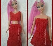 Одежда для кукол - Роза красная