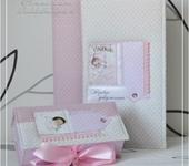 Обложки для документов, книг - Подарочный набор: обложка для детских документов и коробочка для памятных вещиц