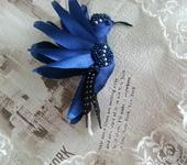 Броши - Брошь - синяя птица счастья