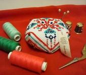 """Шитье, вязание - Бискорню-игольница"""" Узор восточный 1"""""""