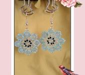 Серьги - Blue flower