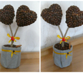 """Оригинальные подарки - Кофейное дерева """"Два любящих сердца"""""""