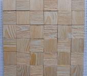 Элементы интерьера - Мозаичная деревянная панель 3d