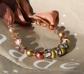 Колье, бусы - Ожерелье «Эклектика нежного возраста»
