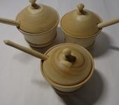 Предметы для кухни - деревянная солонка