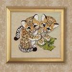 Вышитые картины - Дикие котята