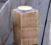 Подсвечники - Подсвечники из дерева квадратные. 2шт