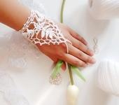 Варежки, митенки, перчатки - Вязаные свадебные митенки