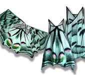 Платья - Сарафан, имитирующий крылья бабочки Парусник фотопринт