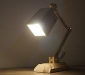 Светильники, люстры - Настольный деревянный светильник ручной работы