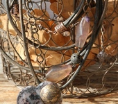 Колье, бусы - Комплект «Ночевала тучка золотая…»