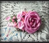 Комплекты украшений - Комплект украшений заколка и браслет из фоамирана