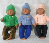 Одежда для кукол - Одежда для куклы Baby Born (Беби Бон ). Свитер и шапочка.