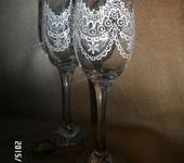 Бокалы, стаканы, рюмки - кружево