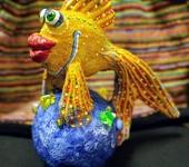 Элементы интерьера - Рыба неваляшка игрушка