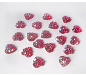 Бисер и бисероплетение - 10шт Стразы 14мм друза пришивные пластик акрил кристаллы сердце розовый