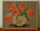 "Живопись - Яниткин декор.Картина ""Тюльпаны"""