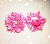 Украшения для волос - Розовые хризантемы