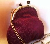 Сумки, рюкзаки - Сумка замшевая фиолетовая с узором