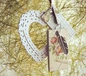 """Брелоки - Подвеска на сумку """"В двух шагах от весны"""""""