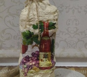Декоративные бутылки - Декоративная бутылка «Винная карта»