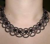 Колье, бусы - Ожерелье «Сиреневый вечер»