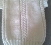 Одежда для мальчиков - Жилет белый вязаный