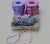 Фурнитура для бижутерии - Атласный плетённый шнур (4 цвета)  50м