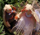 Куклы Тильды - Свадебные Тильда зайцы