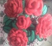 Шитье, вязание - Вязаный цветок
