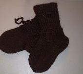 Носки и гольфы - Детские вязаные носочки ручной работы