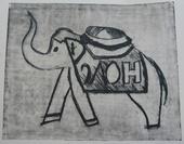 Гравюра - Слон