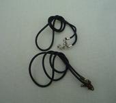 Фурнитура для бижутерии - Каучуковый шнурок (2 вида).   1шт