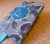 Ежедневники - Блокнот ручной работы в серо-синих тонах