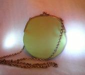 Сумки, рюкзаки - Маленькая кожаная сумочка оливкового цвета